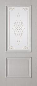 Изображение Дуэт ПГ Беленый дуб стекло художественное