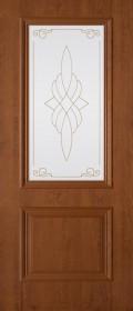 Изображение Дуэт Орех светлый стекло художественное