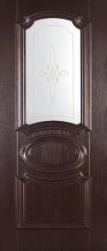 Изображение Марсель Венге черный стекло художественное