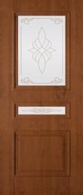 Изображение Трио Орех светлый стекло художественное