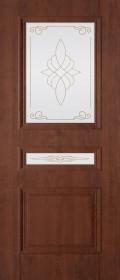Изображение Трио Орех темный стекло художественное