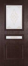 Изображение Трио Венге черный стекло художественное