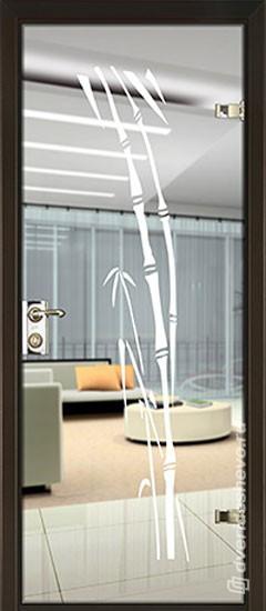 Межкомнатная стеклянная дверь «Серия Витро тип 400П1»