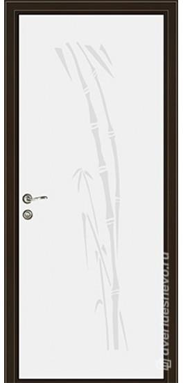 Межкомнатная стеклянная дверь «Серия Витро тип 450П1» белый