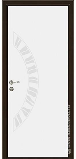Межкомнатная стеклянная дверь «Серия Витро тип 450П2» белый