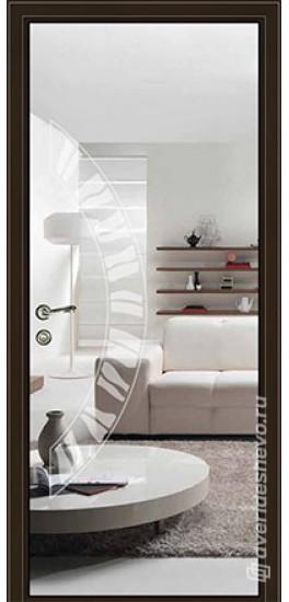 Межкомнатная стеклянная дверь «Серия Витро тип 450П2» зеркало