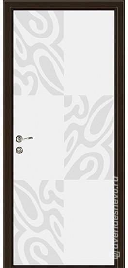 Межкомнатная стеклянная дверь «Серия Витро тип 450П8» белый