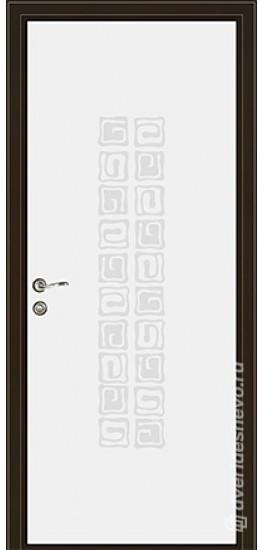 Межкомнатная стеклянная дверь «Серия Витро тип 450П10» белый