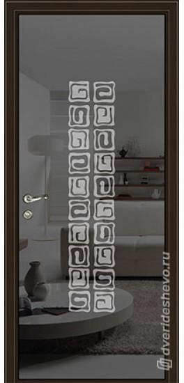 Межкомнатная стеклянная дверь «Серия Витро тип 450П10» графит