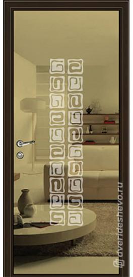 Межкомнатная стеклянная дверь «Серия Витро тип 450П10» бронзовое