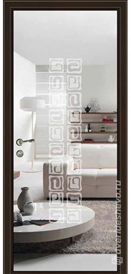Межкомнатная стеклянная дверь «Серия Витро тип 450П10» зеркало