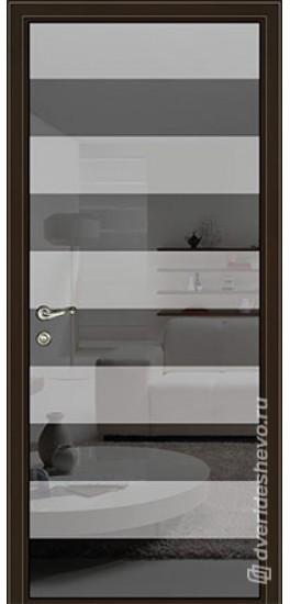 Межкомнатная стеклянная дверь «Серия Витро тип 450П14» графит