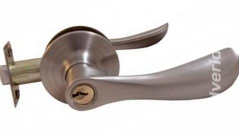Ручка дверная 893 Перламутровый хром