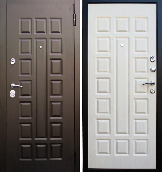 Входная стальная дверь Прима Люкс Беленый дуб