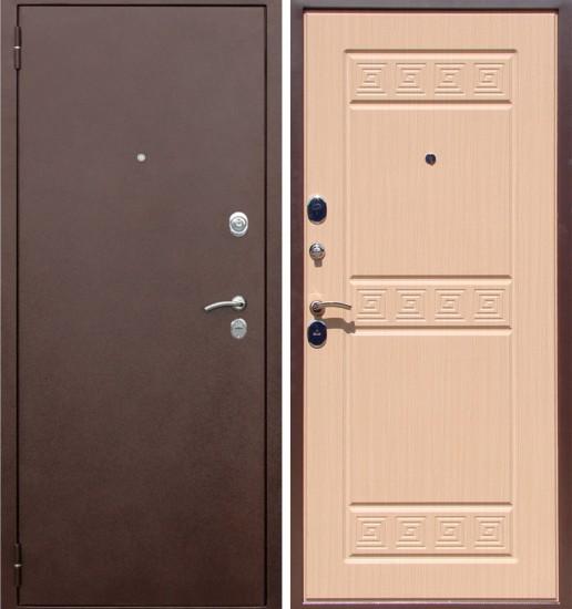 Входная стальная дверь Тетра-1 Беленый дуб